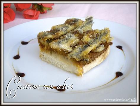 Crostone con alici
