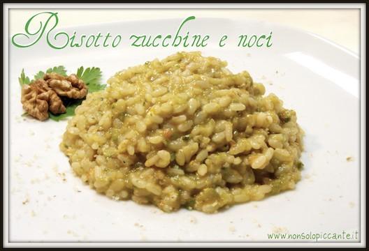 Risotto zucchine noci