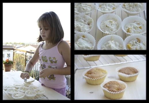 Muffin tortine yogurt e pesca