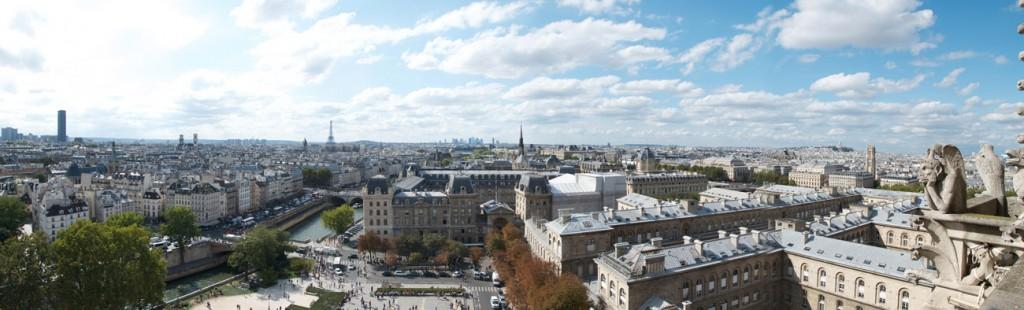 vista da notre dame parigi