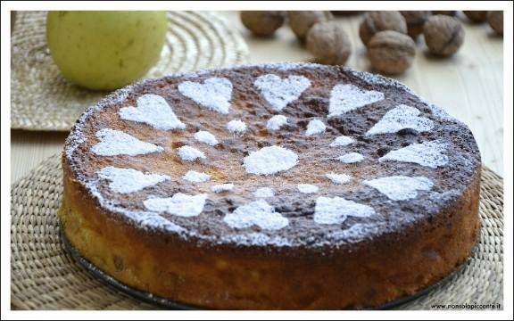 Torta mele e noci