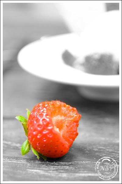 Gelato con fragole