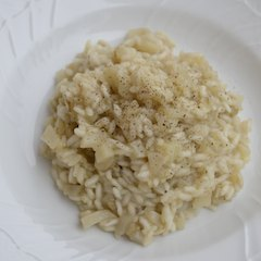 Risotto al topinambur - small
