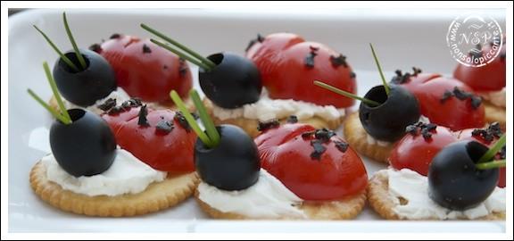 Coccinelle con pomodorini