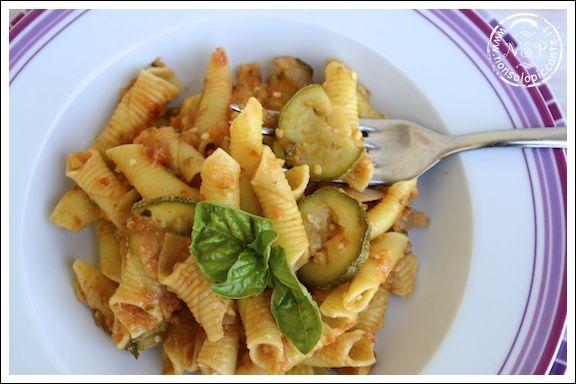 Pasta melanzane e zucchine
